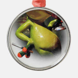 Wellcoda Glamour Frog Smoke Funny Animal Christmas Ornament