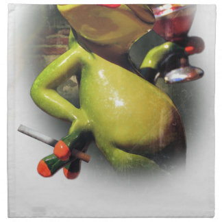 Wellcoda Glamour Frog Smoke Funny Animal Napkin
