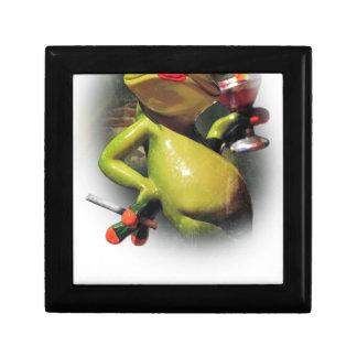 Wellcoda Glamour Frog Smoke Funny Animal Small Square Gift Box