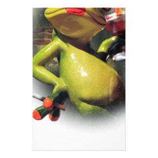 Wellcoda Glamour Frog Smoke Funny Animal Stationery