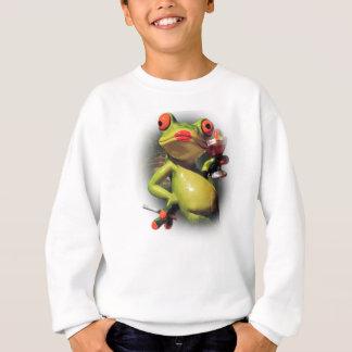 Wellcoda Glamour Frog Smoke Funny Animal Sweatshirt