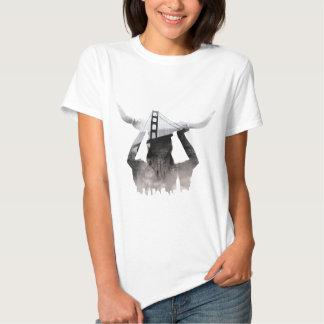 Wellcoda Golden Gate Bridge San Francisko T Shirt