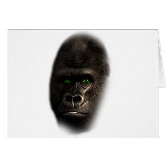Wellcoda Gorilla Ape Monkey King Jungle Card