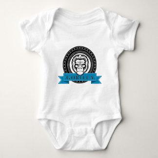 Wellcoda Gorilla Monkey Face Wild Funny Baby Bodysuit