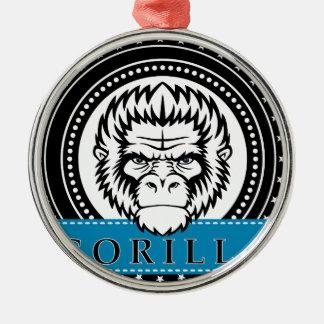 Wellcoda Gorilla Monkey Face Wild Funny Christmas Ornament