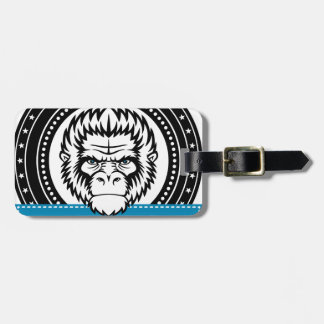 Wellcoda Gorilla Monkey Face Wild Funny Luggage Tag