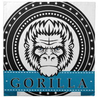Wellcoda Gorilla Monkey Face Wild Funny Napkin