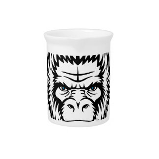 Wellcoda Gorilla Monkey Face Wild Funny Pitcher