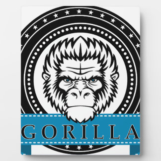 Wellcoda Gorilla Monkey Face Wild Funny Plaque