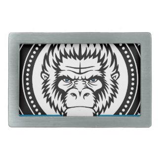 Wellcoda Gorilla Monkey Face Wild Funny Rectangular Belt Buckle