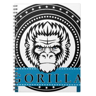 Wellcoda Gorilla Monkey Face Wild Funny Spiral Notebooks