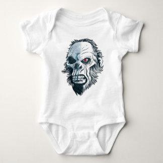 Wellcoda Gorilla Skull Head Monkey Face Baby Bodysuit