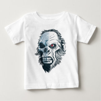 Wellcoda Gorilla Skull Head Monkey Face Baby T-Shirt