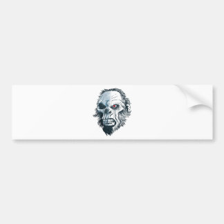 Wellcoda Gorilla Skull Head Monkey Face Bumper Sticker