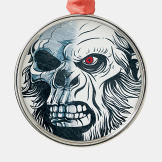 Wellcoda Gorilla Skull Head Monkey Face Christmas Ornament