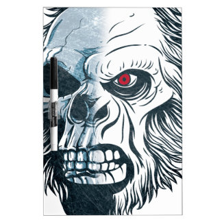 Wellcoda Gorilla Skull Head Monkey Face Dry Erase Board