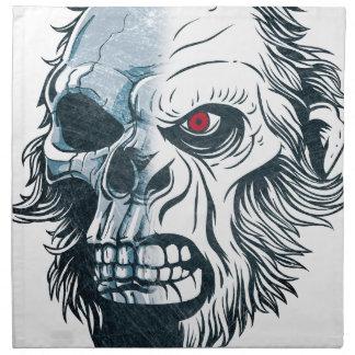 Wellcoda Gorilla Skull Head Monkey Face Napkin