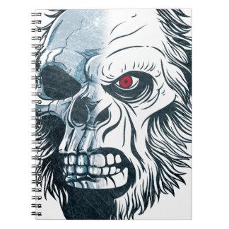 Wellcoda Gorilla Skull Head Monkey Face Notebook