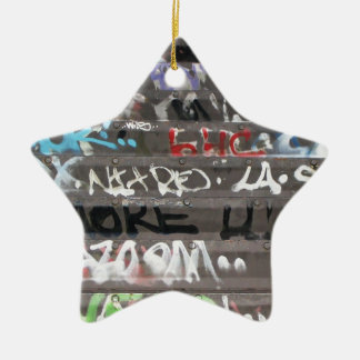 Wellcoda Graffiti Vandal Print Urban Life Ceramic Star Decoration