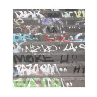 Wellcoda Graffiti Vandal Print Urban Life Notepad