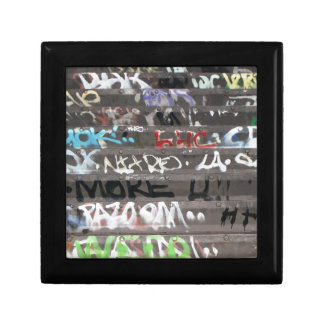 Wellcoda Graffiti Vandal Print Urban Life Small Square Gift Box