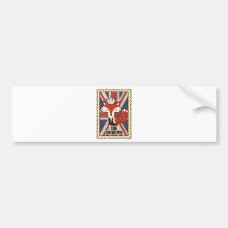 Wellcoda Great Britain Fox Crown UK Royal Bumper Sticker