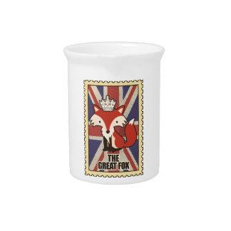 Wellcoda Great Britain Fox Crown UK Royal Pitcher