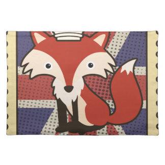 Wellcoda Great Britain Fox Crown UK Royal Placemats