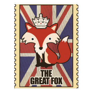Wellcoda Great Britain Fox Crown UK Royal Postcard
