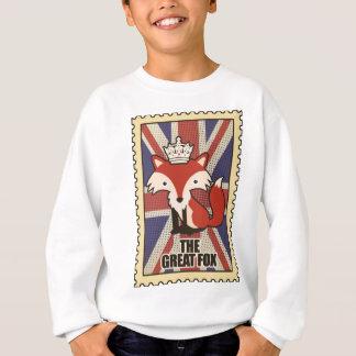 Wellcoda Great Britain Fox Crown UK Royal Sweatshirt