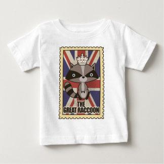 Wellcoda Great Britain Raccoon GB Animal Baby T-Shirt