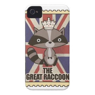 Wellcoda Great Britain Raccoon GB Animal Case-Mate iPhone 4 Cases