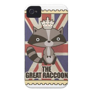 Wellcoda Great Britain Raccoon GB Animal Case-Mate iPhone 4 Cases