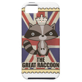 Wellcoda Great Britain Raccoon GB Animal iPhone 5 Case