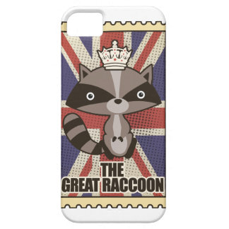 Wellcoda Great Britain Raccoon GB Animal iPhone 5 Cover