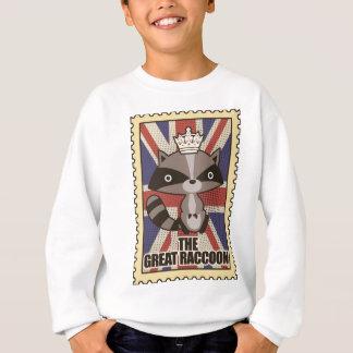 Wellcoda Great Britain Raccoon GB Animal Sweatshirt