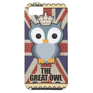 Wellcoda Great Owl King Animal Queen UK iPhone 5 Cases