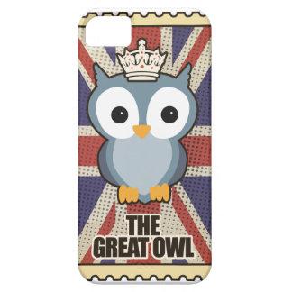 Wellcoda Great Owl King Animal Queen UK iPhone 5 Cover