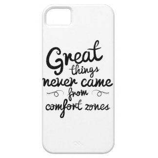 Wellcoda Great Things Never Comfort Zone iPhone 5 Cover