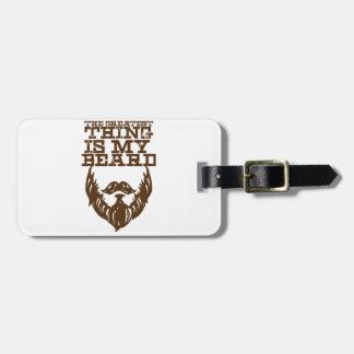 Wellcoda Greatest Beard Man Hipster Swag Luggage Tag