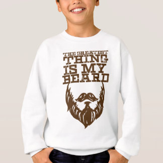 Wellcoda Greatest Beard Man Hipster Swag Sweatshirt