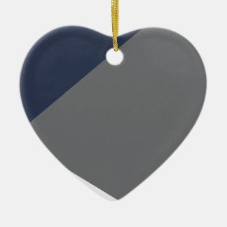 Wellcoda Grey Triangle Shape Three Tier Ceramic Heart Decoration