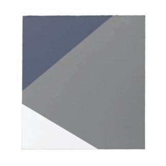 Wellcoda Grey Triangle Shape Three Tier Notepad