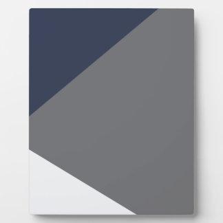 Wellcoda Grey Triangle Shape Three Tier Plaque