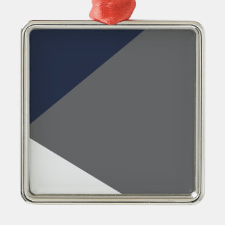 Wellcoda Grey Triangle Shape Three Tier Silver-Colored Square Decoration