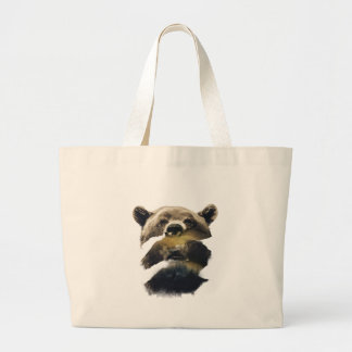 Wellcoda Grizzly Bear Camping Wild Animal Large Tote Bag