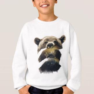 Wellcoda Grizzly Bear Camping Wild Animal Sweatshirt