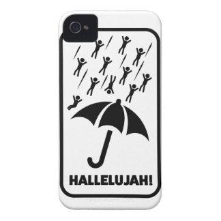 Wellcoda Hallelujah Rain Fall Men Drop iPhone 4 Cases