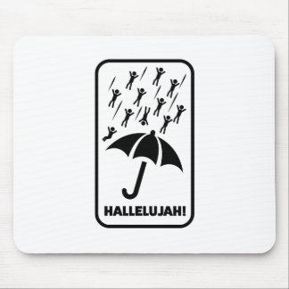 Wellcoda Hallelujah Rain Fall Men Drop Mouse Mat