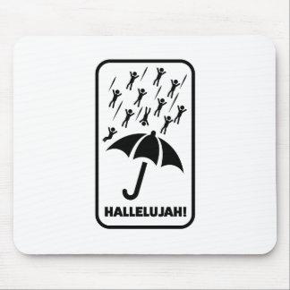 Wellcoda Hallelujah Rain Fall Men Drop Mouse Pad